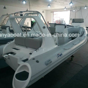 Liya 5.8m 10men Rigid Hull Fiberglass Inflatable Boat Patrol Boat pictures & photos