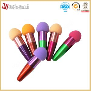 Washami Cosmetic Puff Make up Foundation Powder Puff with Handle pictures & photos