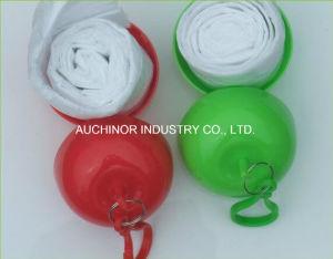 Transparent Waterproof Plastic Disposable PE Rain Poncho pictures & photos