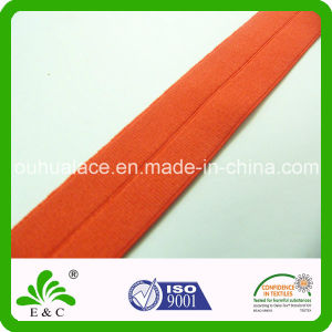 Soft Touch Solid Dyed Fold Over Elastic for Garment Accessories