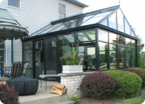Strong Prefabricated Elegant Glass House Aluminum Sunroom Conservatory (TS-623) pictures & photos