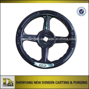 Square Center Hole Stamping Handwheel in Black Colour pictures & photos