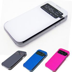 Boust New Flip PU Leather Case Cover Smart Wake View for Samsung Galaxy S4 S IV I9500 Bst-Ackq (BST-ACKQ)