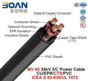 Mv-90, Power Cable, 35 Kv, 3/C, Cu/Epr/Cts/PVC (ICEA S-93-639/NEMA WC71/UL 1072) pictures & photos