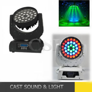 36PCS 10W 6in1 Zoom LED Moving Head RGBW Wash Light pictures & photos