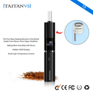 Knob-Style Temperature Contronl 1200mAh E-Cigarette Dry Herbal Vaporizer pictures & photos