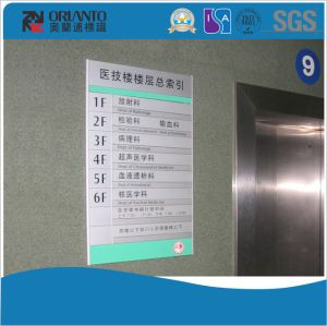 Aluminium Indoor Way Finding Flat Sign pictures & photos