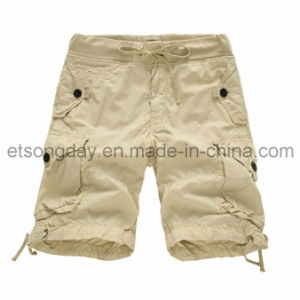 100% Cotton Men′s Shorts with Waistband Belt (mm106) pictures & photos