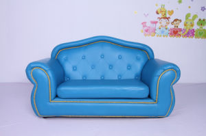Royal Style PU Leather Sofa Children Furniture (SXBB-345) pictures & photos