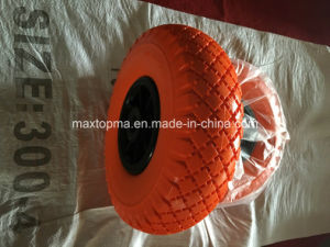 China 300-4 PU Foam Wheel with Plastic Rim pictures & photos