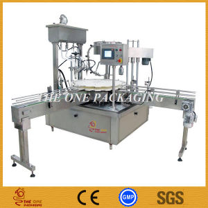 China Fully Automatic Gravity Cream Jars Filling Capping Machine pictures & photos