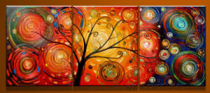 Handmade Abstract Landscape Tree Oil Painting pictures & photos