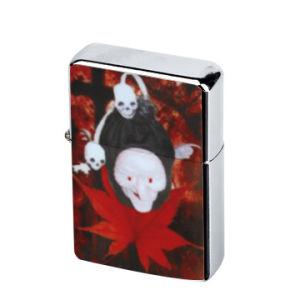 Skull Chrome PVC Emblem Metal Gift Oil Lighter