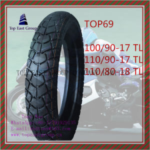 Size 100/90-17tl, 110/90-17tl, 110/80-18tl Tubeless, ISO Nylon 6pr Motorcycle Tyre pictures & photos