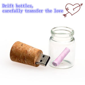 USB Flash Drive OEM Logo USB Pendrives USB Stick Cork Wishing Bottle Flash Card USB Memory Flash Disk USB 2.0 Thumb pictures & photos