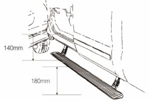 for Toyota Prodo Electric Running Board pictures & photos