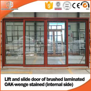 Heavy Duty Lift and Sliding Wood Aluminum Glass Door Made for America Client pictures & photos