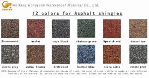 Colorful Roofing Building Material -- Asphalt Shingle pictures & photos
