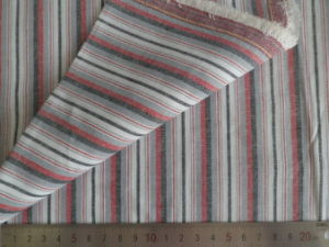 Red/Grey/Charcoal Oxford Stripes 125GSM 100% Cotton Yarn Dyed Fabric pictures & photos