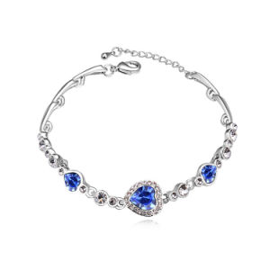 2015 Blue Crystal Best Selling Length Can Adjustable Bracelet Crystal