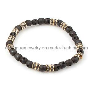 Xg-Yk113 Skull Bracelet W/ Rhinestone Stone