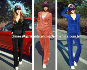 100% Polyester Velvet Sports Wear for Women′s, Leisure Wear