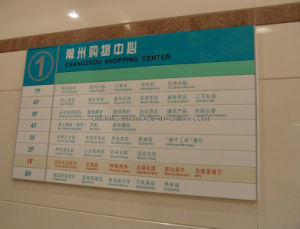 Shopping Mall Wall Mounted Flat Sign pictures & photos