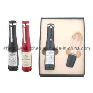 Bottle Shaped Wine Set with Two Functions (600719-E) pictures & photos