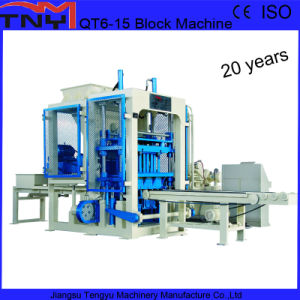 Automatic Hydraulic Cement Brick Making Machine (QT6-15) pictures & photos