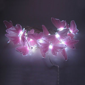 LED Fiber Optic Butterfly String Light for Home & Christmas Decoration