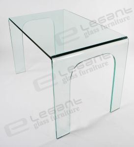 Home Furniture, Bent Glass Dining Table dB008