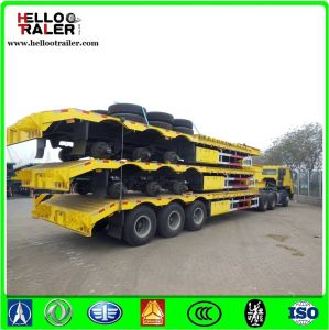 China Factory Made Tri Axle 60000 Kgs Lowbed Loader Semi Trailer pictures & photos