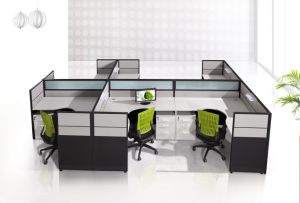 6 Seaters Office Furniture Module Office Workstation Desk with Screen pictures & photos