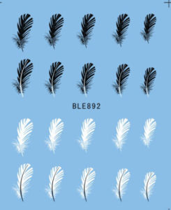 Black White Feather Nail Art Decal Stickers pictures & photos