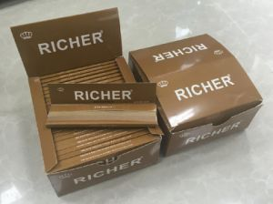 Customized Top Grade Unbleached Brown Hemp Cigarette Rolling Papers pictures & photos