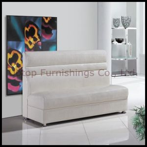 Modern White Leatherette Restaurant Sofa Booth (SP-KS106) pictures & photos