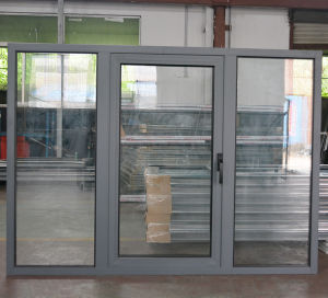 High Quality Aluminium Casement Window with Fix Pane K03003 pictures & photos