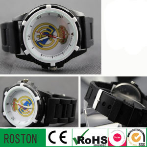 Male Fashion Casual Sports Watch Silicone Alloy Quartz Wristwatches pictures & photos