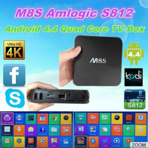 M8s Amlogic S812 Quad Core Android 4.4 TV Box M8s 2GB/8GB Kodi Bluetooth Dual-Band WiFi pictures & photos