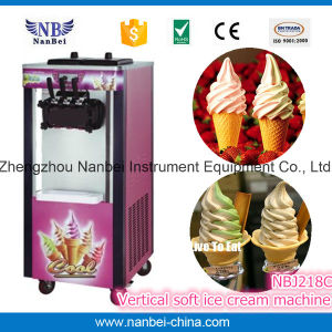 CE Approved Rainbow Vertical Soft Ice Cream Maker pictures & photos