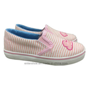 Step in Children Striped Canvas Shoes for Girls (ET-LD170466K) pictures & photos