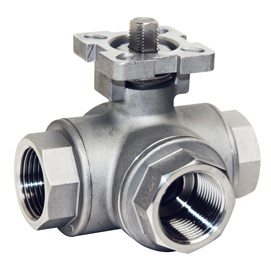 3 Way Ball Valve with Mounted Pad pictures & photos