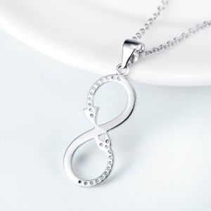 Genuine 925 Sterling Silver Infinity Pendant Necklace Fashion Love Arrow Necklaces & Pendants for Women Jewelry Gift pictures & photos