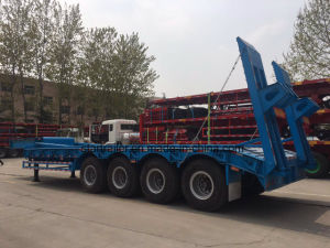 4 Axles Flatbed Construction Carrier Semi-Trailer pictures & photos