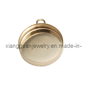 Xg-Yk83 Gold Filled 15mm Bezel Cup with Loop
