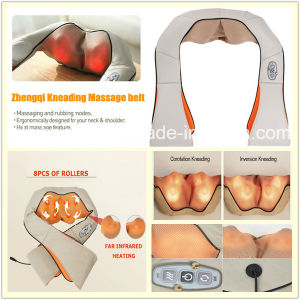 Shiatsu Heat Deep Tapping Muscle Pain Relief Vibration Neck Massager pictures & photos