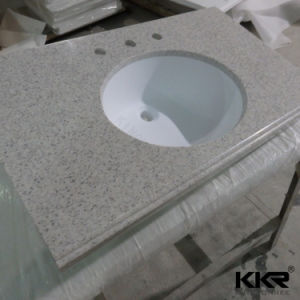 Kkr Custom Made Hotel Project Artificial Stone Bathroom Vanity Top pictures & photos