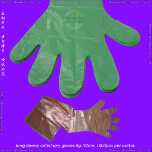 Disposable PE Veterinary Gloves pictures & photos