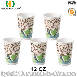 Custom 12oz Hot Coffee Paper Cup with Lids (12 oz-13) pictures & photos