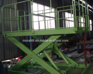 Hydraulic Scissor Freight Lift with CE pictures & photos